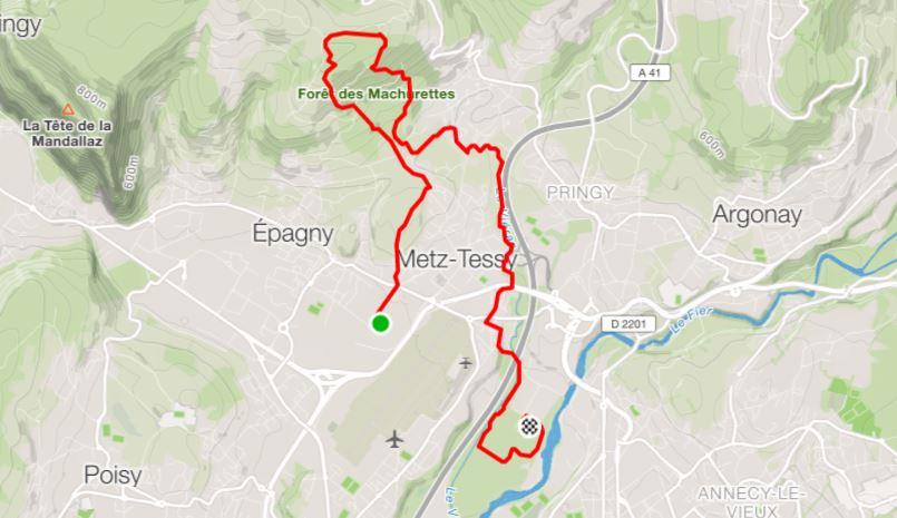 Parcours Machurun 12 km